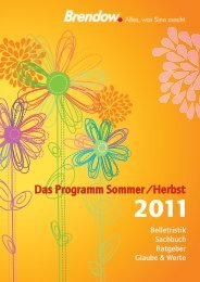 Das Programm Sommer / Herbst - Butzon & Bercker