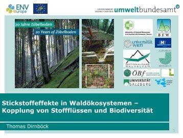 Kopplung von Stoffflüssen und Biodiversität - Umweltbundesamt