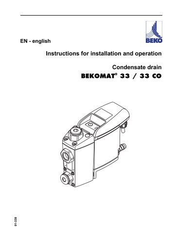 Instructions for installation and operation Condensate drain ...
