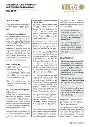 Händler-Partnerinformation vom Mai 2011