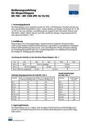 Gebrauchsanweisung AK DN 700-1200