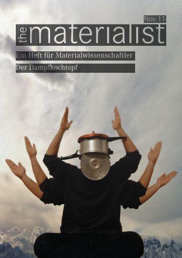 Nov 11 Der Dampfkochtopf Ein Heft für Materialwissenschaftler - SMW