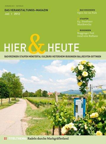 19.30 Uhr - Ferienregion Muenstertal Staufen