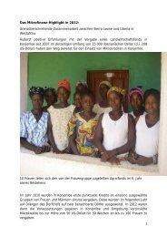 Bericht über diese erfolgreiche innerafrikanische Kooperation