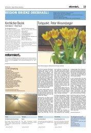 April 2013 - Kirchgemeinde Brienz