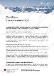 Klimabulletin Herbst 2012 Herbst 2012 - MeteoSchweiz - admin.ch