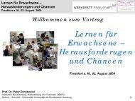 Lernen für Erwachsene - Werkstatt Frankfurt eV