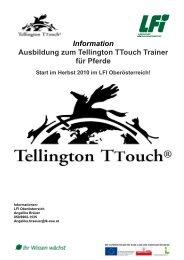 Information Ausbildung zum Tellington TTouch Trainer ... - Pferdplus