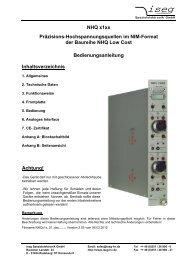 CE – Zertifikat (Kopie) - Iseg High Voltage