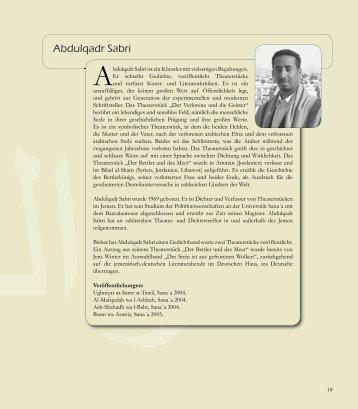 Abdulqadr Sabri - Das Deutsche Haus