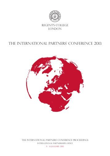 Conference proceedings booklet (PDF) - Regent's University London