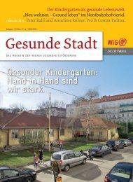 Gesunde Stadt, Frühjahr 2013 - Wiener Gesundheitsförderung