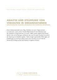 analyse und steuerung von verhalten in organisationen - Aisenbrey ...