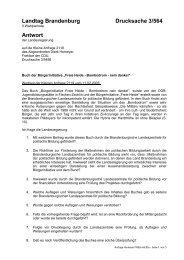 Antwort der Landesregierung auf Kleine Anfrage als pdf-Datei