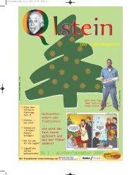 No 5 - Winter/Dezember 2009 - Q1stein Magazin