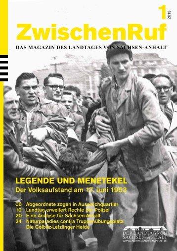 LEGENDE UND MENETEKEL - Der Landtag von Sachsen-Anhalt