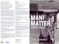 Mani Matter ist bis heute einer der populärsten Mundartdichter und ...