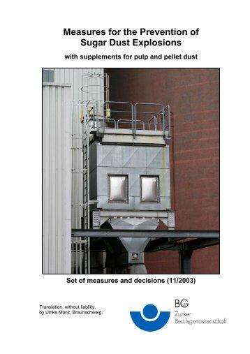 Schutzmaßnahmen zur Vermeidung von Zuckerstaubexplosionen