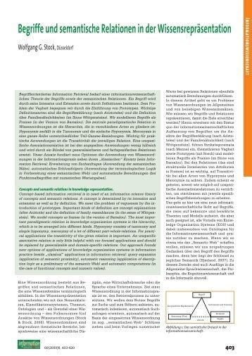 Begriffe und semantische Relationen in der Wissensrepräsentation