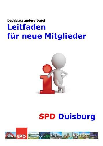 Leitfaden für neue Mitglieder SPD Duisburg