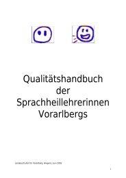 Qualitätshandbuch der Sprachheillehrerinnen ... - Bildung Leben