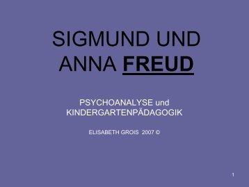 SIGMUND UND ANNA FREUD - Paedagogika