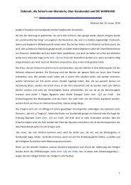 Deborah, die Seherin von Manduria, über ... - Gottes Warnung