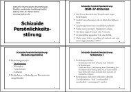 Schizoide Persönlichkeits - Institut für Psychologische Psychotherapie