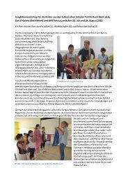 Bericht zum Jungbläserworkshop 2012 - Brass for Peace
