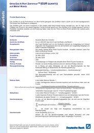 Termsheet vom Ausgabetag - Österreich - Deutsche Bank