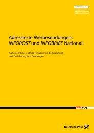 Infobroschüre INFOPOST - letterei.de