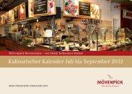 Kulinarischer Kalender Juli bis September 2012 - Mövenpick ...