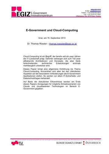 E-Government und Cloud-Computing