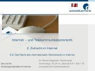 Der internationale Warenkauf im Internet - Dr. Gottschalk ...