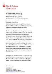 Breite Zustimmung und optimistischer Ausblick - Nord-Ostsee ...