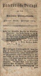 u bcrt ftlleftjcfjett ^robm^ialbtdfcem» B»eUe 6 Stöcf» gebMtar 1819 ...