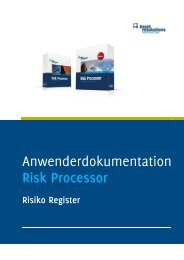 Handleiding risicomanagement tool - AssetResolutions B.V.