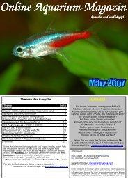 Online Aquarium Online Aquarium-Magazin kostenlos und - OAM