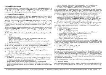 5. Morphologische Typen - Institut für deutsche Sprache und Linguistik