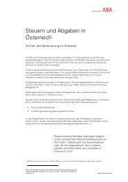 Steuern und Abgaben in Österreich - TMG