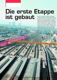 Der Bauingenieur 02/05: Bahnhof Löwenstrasse - Basler & Hofmann