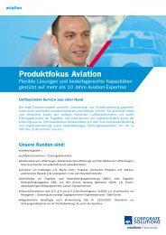 Produktfokus Aviation - AXA Corporate Solutions