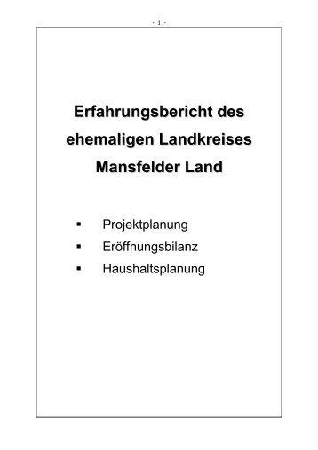 Erfahrungsbericht des ehemaligen Landkreises Mansfelder Land