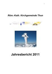 Jahresbericht 2011 - Kath. Kirchgemeinde Thun