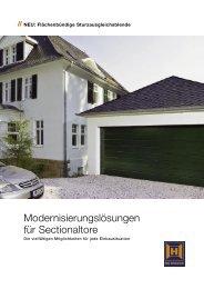Modernisierungslösungen für Sectionaltore - Hörmann KG