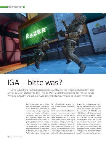 GamesMarkt über das InGame Advertising - GAN Game Ad Net