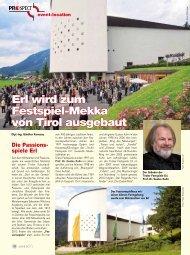 Erl wird zum Festspiel-Mekka von Tirol ausgebaut