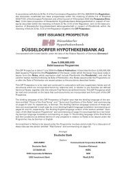 debt issuance prospectus düsseldorfer hypothekenbank ag