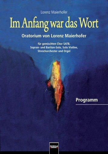 Im Anfang war das Wort - Lorenz Maierhofer