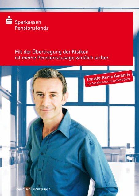 S Sparkasse S Sparkassen Pensionsfonds Mit der ... - S-pension.de